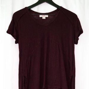 burgundy long top